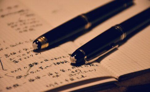 2本の万年筆