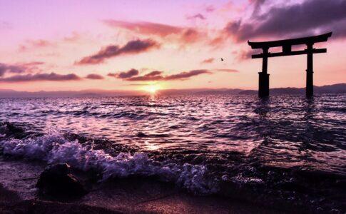 滋賀県 白髭神社の朝
